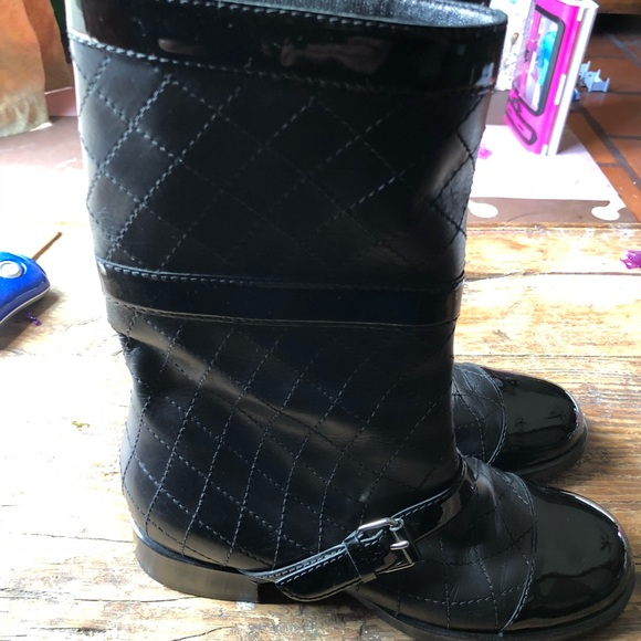 Chanel Shoes Genuine Quilted Boots With Free Dustbag Poshmark
